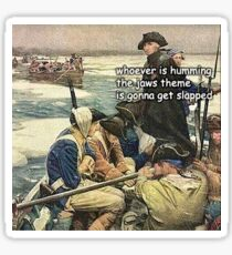 Pegatina Historia Jaws Meme Funny