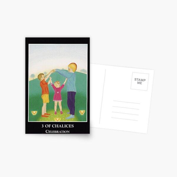 3 of Chalices - Celebration Postcard