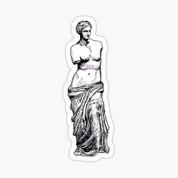 Goddess of love in white Sticker