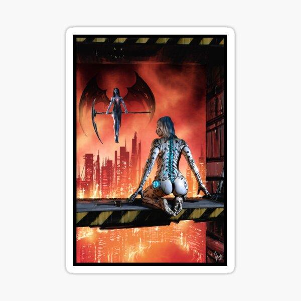 Cyberpunk Painting 086 Sticker