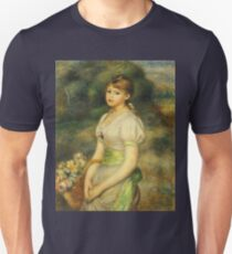 Auguste Renoir - Young Girl With A Basket Of Flowers 1888 T-Shirt