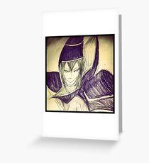 dark magician yu gi oh Greeting Card