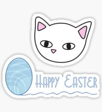 Happy Easter - light blue Sticker