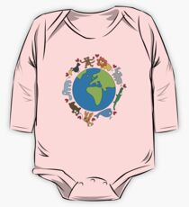 We Love Our Planet | Animals Around The World One Piece - Long Sleeve