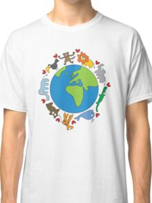 We Love Our Planet | Animals Around The World Classic T-Shirt
