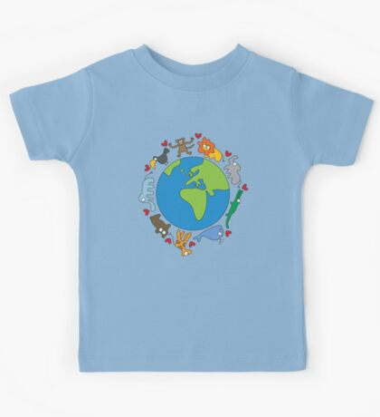 We Love Our Planet | Animals Around The World Kids Clothes