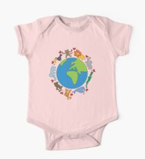We Love Our Planet | Animals Around The World One Piece - Short Sleeve