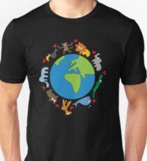 We Love Our Planet | Animals Around The World Unisex T-Shirt