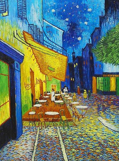 P 243 Ster 171 Van Gogh Caf 233 Terrace Night Pinturas Famosas