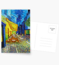 Van Gogh Café Terrace Night Berühmte Gemälde Impressionist Postkarten
