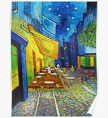 Van Gogh Café Terrace Night Famous Paintings Impressionist Poster