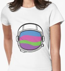 Space Helmet Colors Women's Fitted T-Shirt