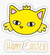Happy Easter - Meow Chick Sticker
