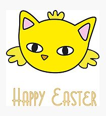 Happy Easter - Meow Chick Photographic Print