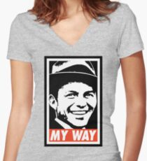 My Way Women's Fitted V-Neck T-Shirt