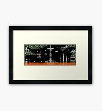 Metroid Themed Pixel Level Framed Print