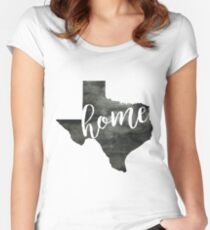 texas is home Women's Fitted Scoop T-Shirt