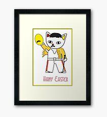 Freddie Meow Easter egg Framed Print