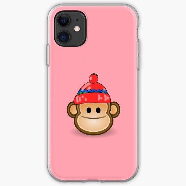 Cute Monkey wearing Beanie iPhone Soft Case