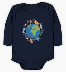 We Love Our Planet | Animals Around The World II Kids Clothes