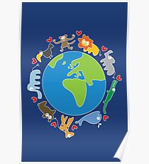 We Love Our Planet   Animals Around The World II Poster
