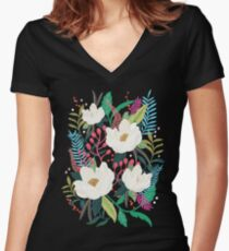 The Garden of Alice, flower, floral, blossom art print Women's Fitted V-Neck T-Shirt