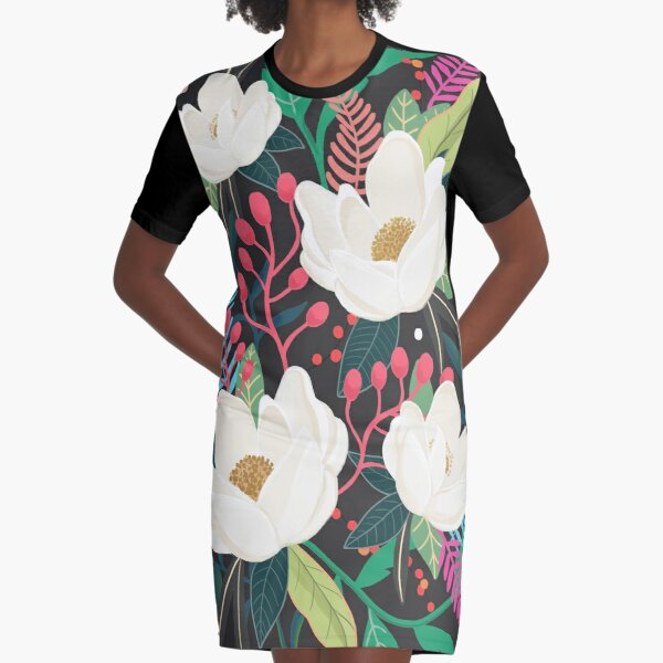 The Garden of Alice, flower, floral, blossom art print Graphic T-Shirt Dress