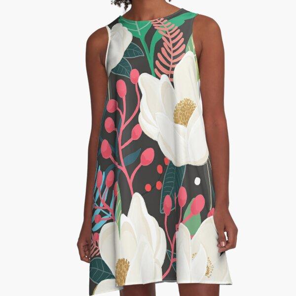 The Garden of Alice, flower, floral, blossom art print A-Line Dress