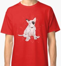 English bull Terrier with a heart shaped patch Classic T-Shirt