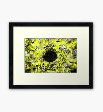 Grunge Paint Splatter Flower Framed Print