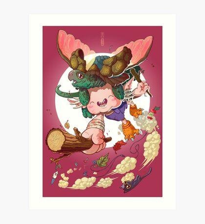 Yoshiki & Capitan leap Art Print