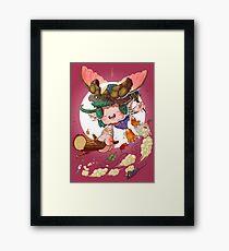 Yoshiki & Capitan leap Framed Print