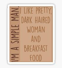 I'm a Simpe Man Sticker