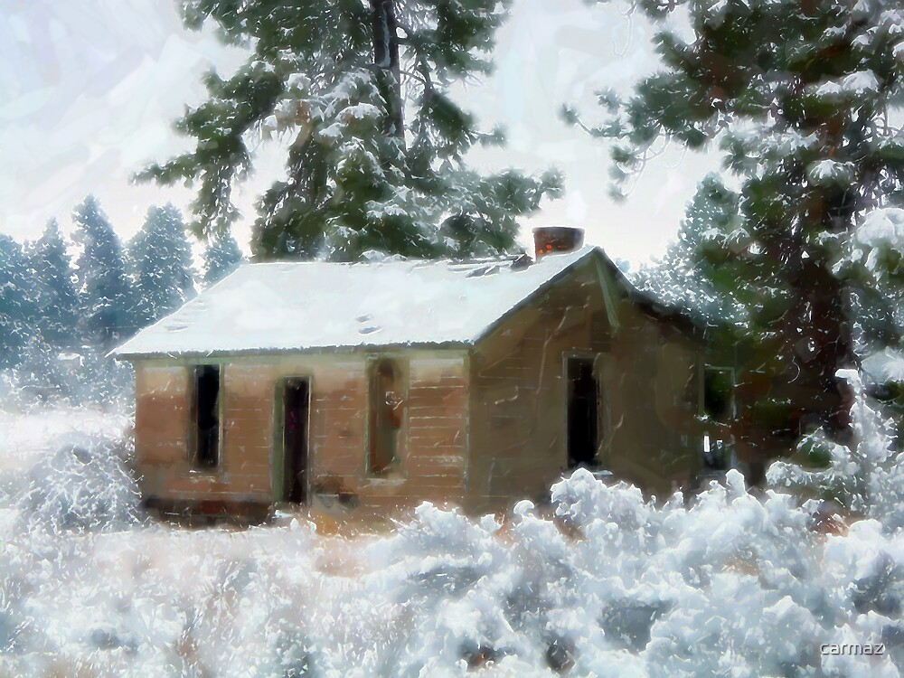 Shack in the Snow by carmaz
