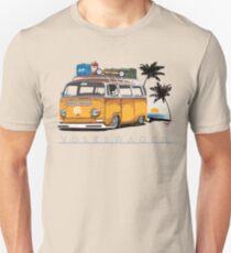 Bay-sitting-at-the-Beach (Orange) Unisex T-Shirt