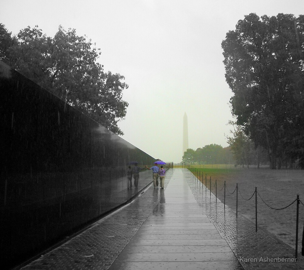 Stormy Day at the Vietnam Memorial by Karen Ashenberner