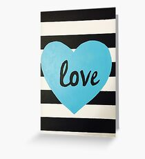 Love striped Greeting Card