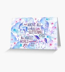 Unicorn Roald Dahl Quote Greeting Card