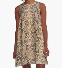 Snake Skin A-Line Dress