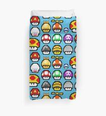 Retro Mario Mushroom Medley Duvet Cover
