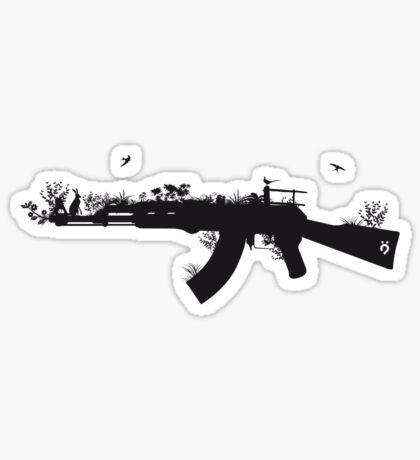 Ak47 Love & Peace Sticker