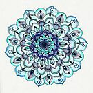 Tide Meets Shore - Blue Mandala by Tangerine-Tane