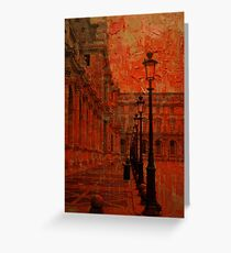 Painting the Louvre Greeting Card