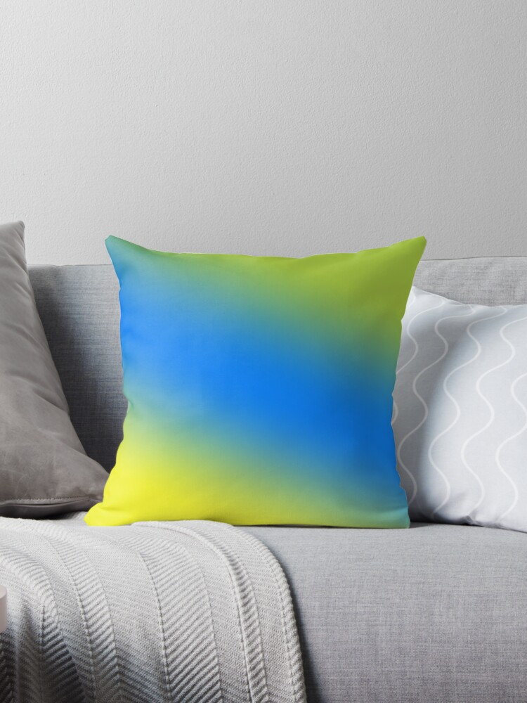 Beautiful Cushions/Ombre/ Daffodil Azure Android Green by ozcushions