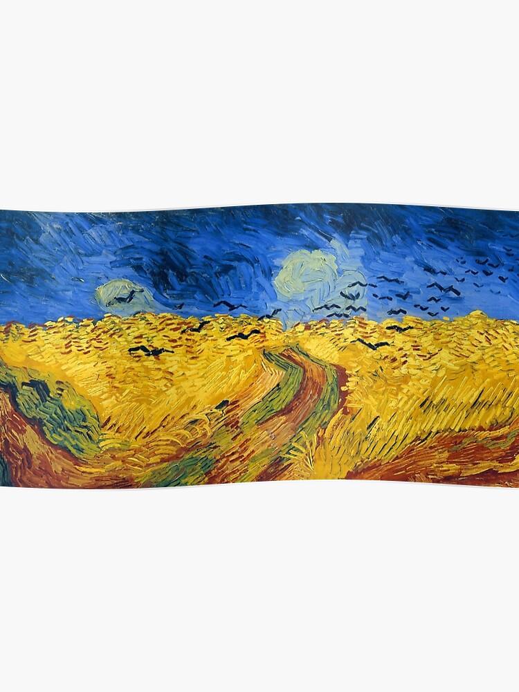 Avec Vincent Champ ImpressionnistesPoster Célèbres Blé Van Gogh Peintures De Des Corneilles BrQdCWxoe