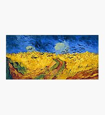 Vincent van Gogh Wheat Field with Crows Famous Paintings Impressionist Photographic Print