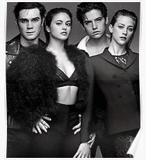 Riverdale cast b&w Poster