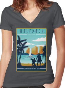 Wolfpack Celebration Women's Fitted V-Neck T-Shirt