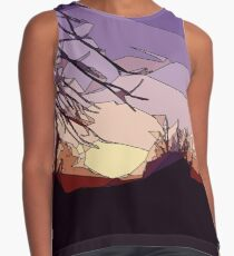 Evening Sunset with Trees Contrast Tank