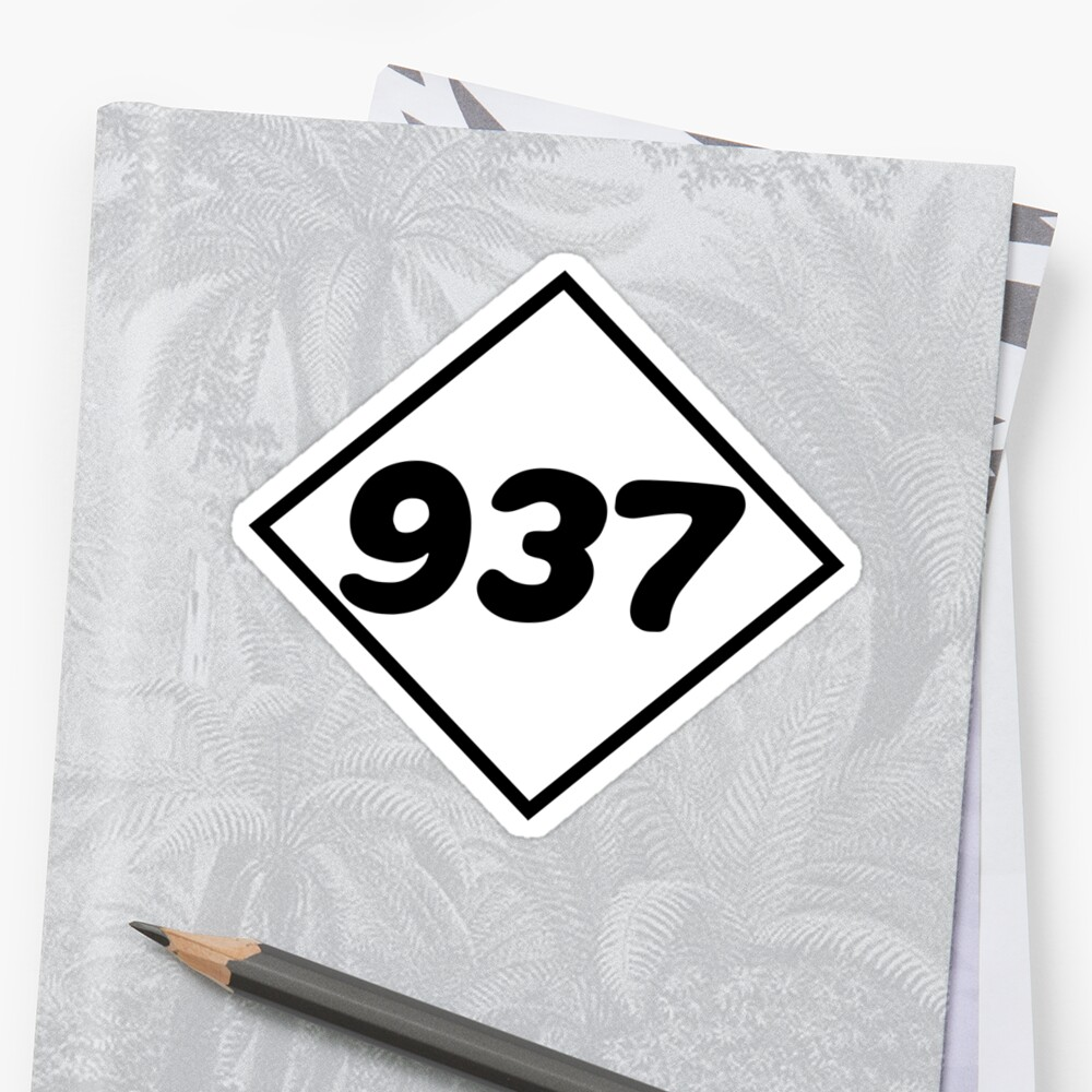 Dayton Area Code Stickers By Thetribe Redbubble - Area code 937